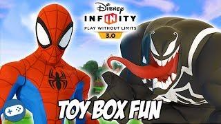 Spiderman Disney Infinity 3.0 Toy Box Fun Gameplay