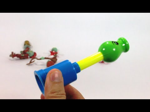 Palnts VS Zombies Blow Toy Gun With Orbeez