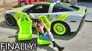 New *NEON* Race Seats for the Drift Corvette!