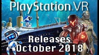 PSVR Releases October 2018   15 New Playstation VR Games!