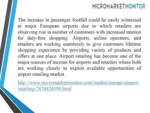 North America Airport Retailing Market is Worth USD 9 90 billion by 2020
