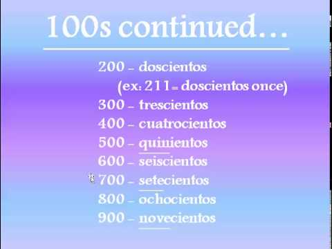 Numbers in English to Spanish Spanish Numbers 100-1,000,000