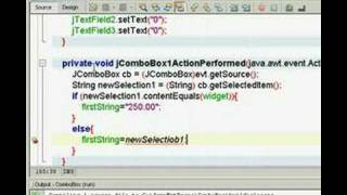 ComboBox for Java using NetBeans. Part 3 of 5