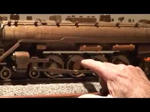 Reading 2100 wooden Train Model - YouTube