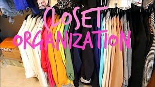How to Organize your closet and Color Coordinate it