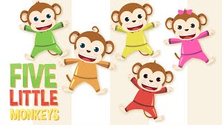 Five Little Monkeys Jumping On The Bed | Kids Songs | Baby Songs