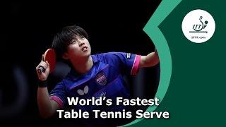 World's Fastest Table Tennis Serve