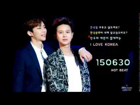 150630 Radio 'HOT BEAT' 하민우 케빈  I LOVE KOREA