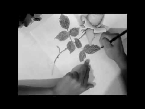 DRAWING OF A REALISTIC ROSE. PLEASE PLEASE LIKE MY VIDEO
