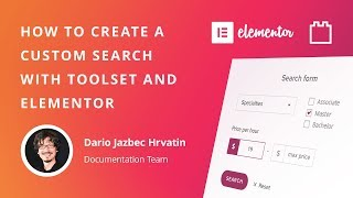 Creating a custom search with Toolset and Elementor