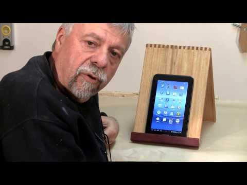 Making a Tablet or iPad Stand - Woodworking
