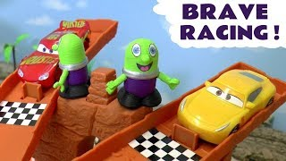 Disney Cars and Hot Wheels Toys brave racing with Thomas The Tank Engine & dinosaur Toy Stories TT4U
