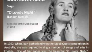 "Joan Sutherland sings ""O Lovely Night"" in 1950"