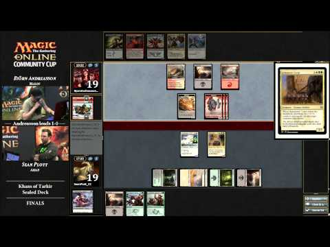 Magic Online Community Cup Pre-Prerelease Final: Sean Plott vs. Björn Andreasson