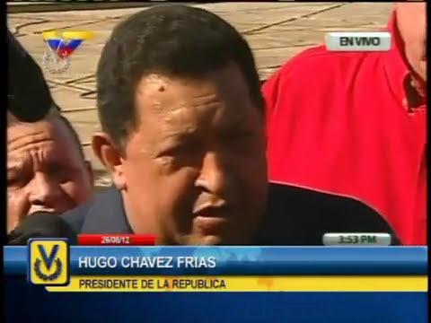 Presidente Chávez envía palabras de solidaridad a la GNB por fallecimientos en Amuay
