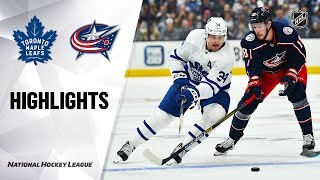 Maple Leafs @ Blue Jackets 10/04/19 Highlights