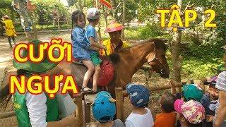 em bé cưỡi ngựa tại erahouse trang trại giáo dục  mầm non thanh bình kids video tv tập 2