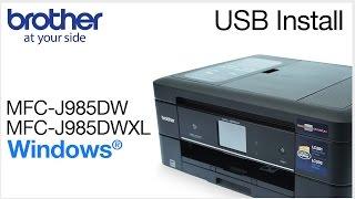 01.Installing MFCJ985DW or MFCJ985DWXL with a USB cable - Windows® Version