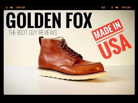 GOLDEN FOX [ MADE IN USA MOC-TOE BOOT ] [ The Boot Guy Reviews ]