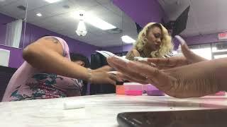 3 color ombré stiletto nail tutorial lovelymimi