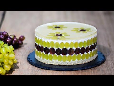 Муссовый торт с виноградом