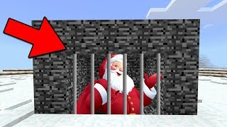 WE TRAPPED SANTA in Minecraft Pocket Edition (Santa Seed)