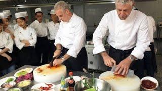 Bourdain and Ripert get schooled in Sichuan cuisine