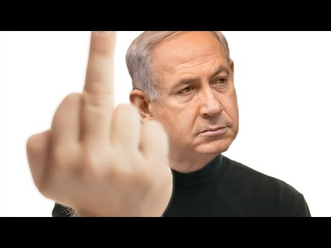 Netanyahu's One Finger Answer To The Two-State Solution