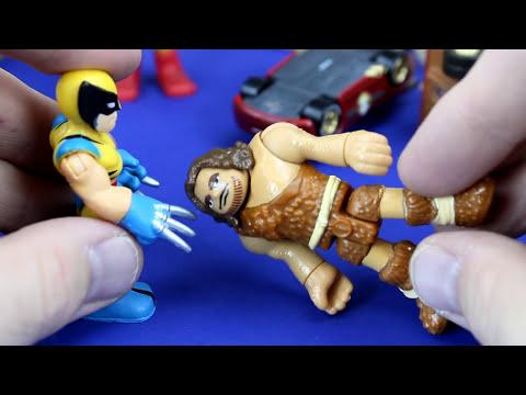 Disney Pixar Iron Man Iron Car Mater & Lightning McQueen go to Jungle to save Imaginext Superman