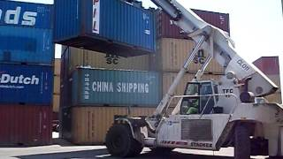 Togo Africa - Port of Lome - Ship Container Forklift