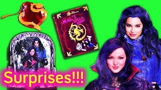 Descendants Mal and Evie Surprise Backpack! Lots of Suprises from Descendants + Mal's spell Book