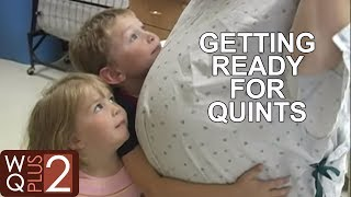 Big Brother and Sister Getting Ready for Quints