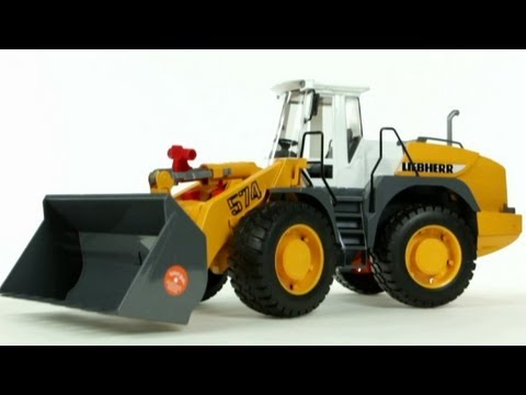 Liebherr Articulated Road Loader (Bruder 02430)  - Muffin Songs' Toy Review