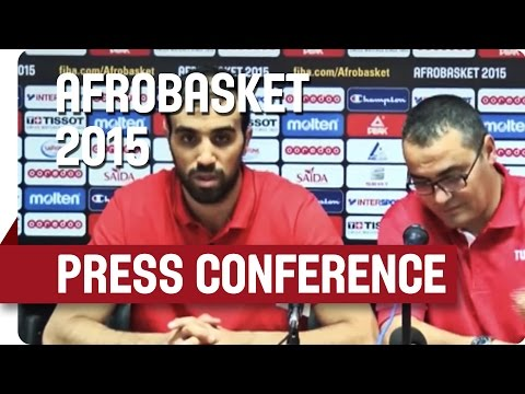 Tunisia v Mali - Post Game Press Conference - AfroBasket 2015