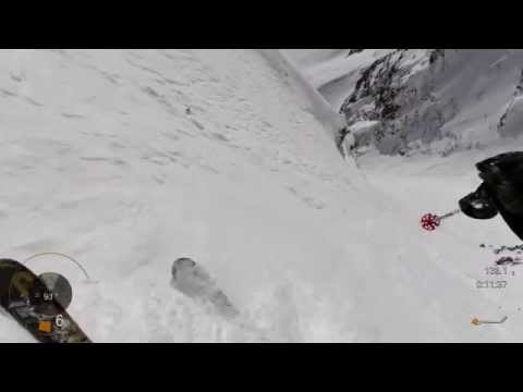 First Ever Amputee Skier To Ski 60 Degree Little Couloir At Big Sky