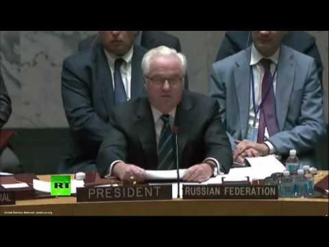 Чуркин о франко-испанской резолюции по Сирии: «Разве это серьезный разговор?»
