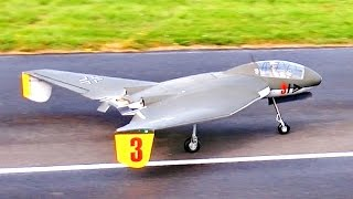 HUGE RC FOCKE WULF 3 X 1000 B SCALE MODEL TURBINE JET FLIGHT DEMONSTRATION / Jet Power Fair 2014