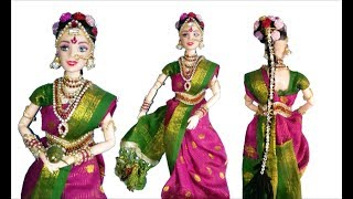 Barbie Bridal makeover in South Indian style