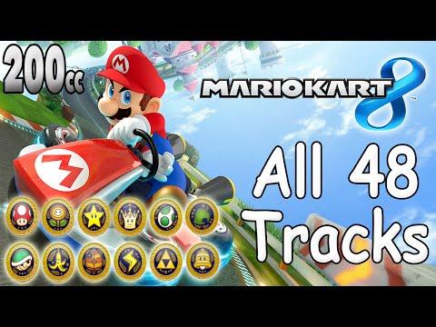 Mario Kart 8 All Tracks 200cc (Full Race Gameplay)