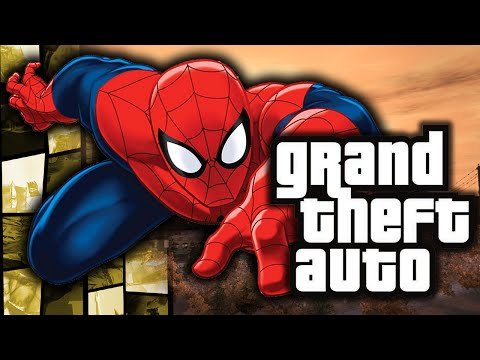 GTA 4: Spiderman in GTA! - (Web Swinging Powers Funny Moments w/ Mods)