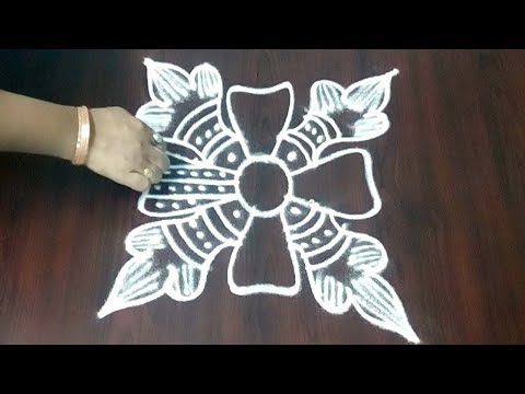 Easy Designs Rangoli || Design Muggulu For Beginners ||  Freehand Rangoli Design || Fashion World