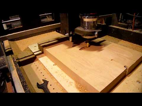 Home Made CNC Router Cutting Guitar. Pt.1:  Pickup Cavities and Neck Pocket