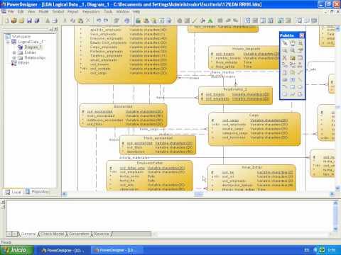 Modelo Físico y Lógico de una Base de Datos en Power Designer