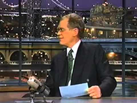 John Malkovich on LS with David Letterman - 10 Things that sound creepy when said by him
