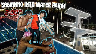 SNEAKING INTO A CLOSED WATERPARK! **We Jumped Off OLYMPIC Diving Boards**