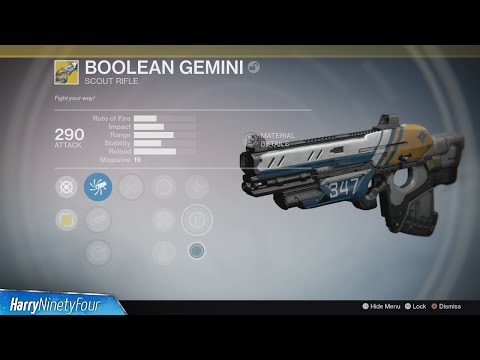 Destiny: The Taken King - How to Get the Boolean Gemini Exotic (Exotic Scout Rifle Quest)