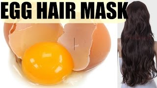 EGG HAIR MASK For DRY FRIZZY HAIR and FAST HAIR GROWTH | SuperPrincessjo