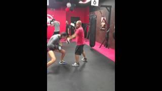 9Round Fitness Chino Hills ca. Pad work w/ Bianca