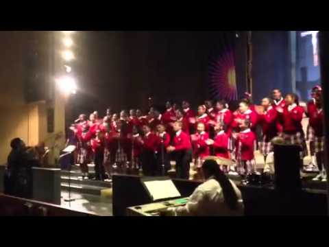 """12 gates to the city"" cardinal Shehan School choir directed by Kenyatta Hardison - 03/17/2012"