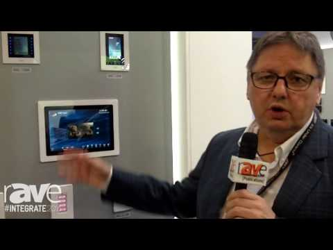 Integrate 2016: RTI Shows KX-10 In-Wall Touch Screen With HDBaseT Input on the Avation Stand